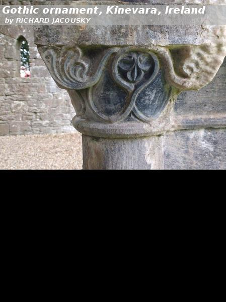 Gothic ornament, Kinevara, Ireland