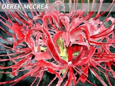 spider lily flower painting